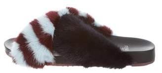 Fendi Mink Fur Slide Sandals