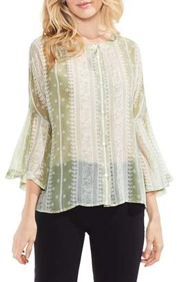 Vince Camuto Country Paisley Bell Sleeve Blouse (Regular & Petite)
