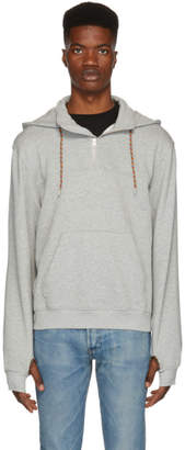 Frame Grey Half Zip Hoodie