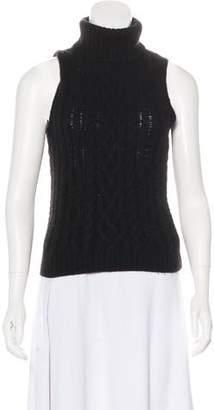 eff1901950a1e7 Ralph Lauren Cashmere Turtleneck Sleeveless Sweater