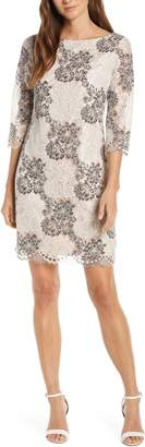 Harper Rose Floral Lace Sheath Dress