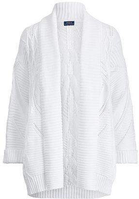 Polo Ralph Lauren Aran-Knit Cotton Cardigan $225 thestylecure.com