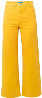 MiH Jeans Caron Cropped High-rise Wide-leg Jeans - Marigold
