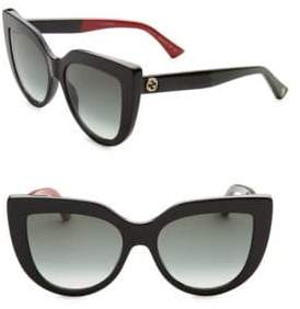 Gucci 53MM Colorblocked Arm Cat Eye Sunglasses