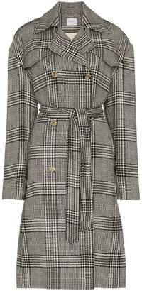 Magda Butrym checked double breasted coat