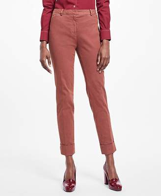 Cuffed Stretch Cotton Oxford Pants $148 thestylecure.com