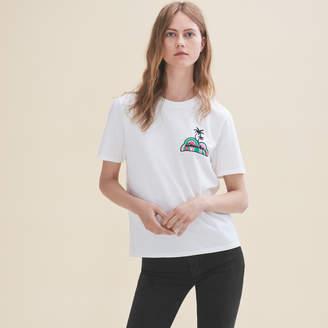 Maje Embroidered T-shirt Sunday