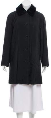 Burberry Shearling-Accented Knee-Length Coat