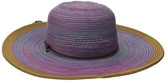 San Diego Hat Company Women's 4-inch Brim Mixed Braid Sun Hat