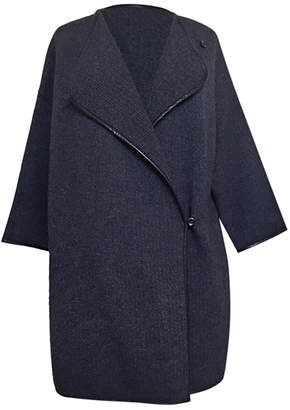 Timeless Leather-Trim Flexi Coat