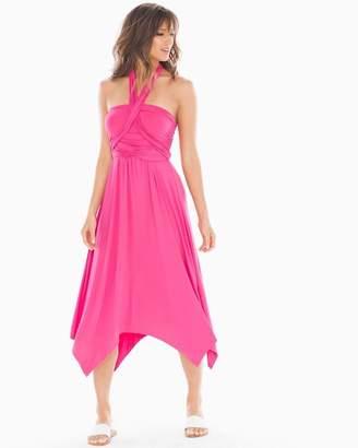 Soft Jersey 7 Way Convertible Dress Magenta