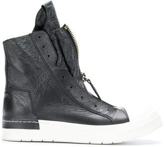 Cinzia Araia creased effect zip sneakers