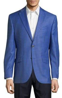 Saks Fifth Avenue RED Conway Grid Sportcoat