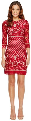 Christin Michaels - Maxine 3/4 Sleeve Lace Dress Women's Dress $109 thestylecure.com