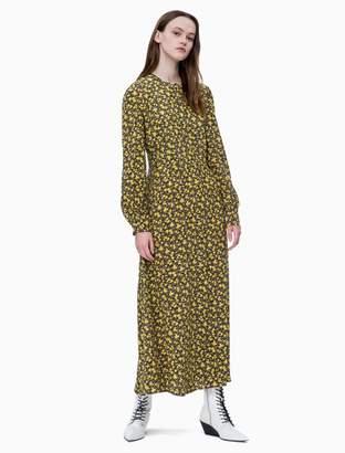 Calvin Klein floral long sleeve maxi dress