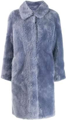 Yves Salomon Meteo fur-trimmed wool coat