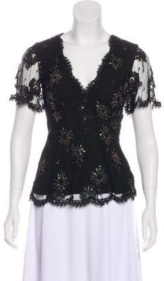 Temperley London Beaded Lace Blouse