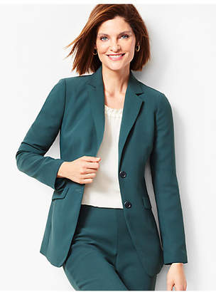 Talbots Seasonless Crepe Two-Button Jacket