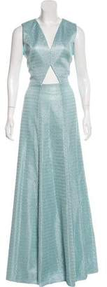 Alexis Textured Evening Dress w/ Tags
