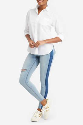 Spanx Distressed Skinny Jean w Side Stripe