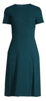 Lafayette 148 New York Women's Jannie Pleated Hem Sheath Dress - Empress Teal - Size 16