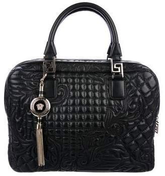 Gianni Versace Quilted Double Zipper Satchel