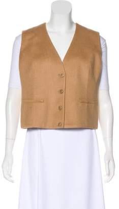 Akris Cashmere Button-Up Vest w/ Tags