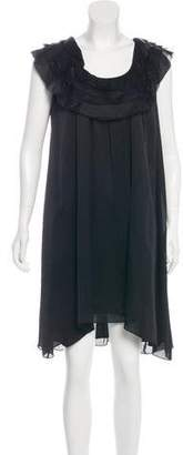 Temperley London Silk Sleeveless Knee-Length Dress