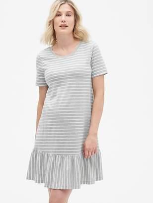 Gap Maternity Ruffle Hem T-Shirt Dress