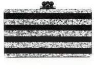 Edie Parker Jean Glitter Stripe Acrylic Clutch
