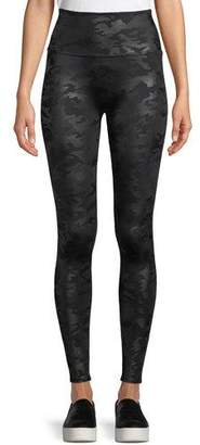 Spanx Camo-Print Faux-Leather Leggings