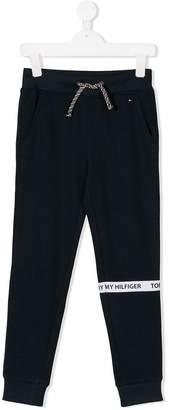 Tommy Hilfiger Junior drawstring-waist track pants