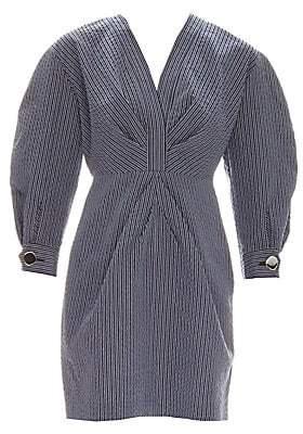 Sandro Women's Kassy Mutton Sleeve Striped Dress