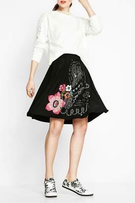 Desigual Artistic Doodled Skirt
