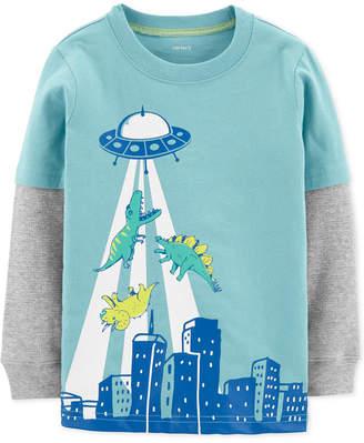 Carter's Baby Boys Dino & UFO Graphic Cotton T-Shirt