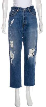 Reformation x Levis Distressed High-Rise Jeans
