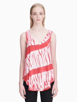 Calvin Klein tie-dye v-neck racerback tank top
