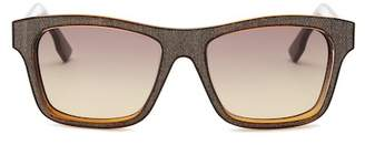 Diesel Women's Square Injected Frame Sunglasses $185 thestylecure.com