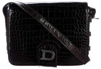 Delvaux Crocodile Shoulder Bag
