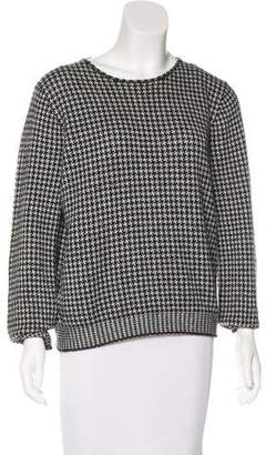 Giorgio Armani Cashmere Houndstooth Sweater