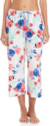 Hue Poppy Print Capri Pajama Pants