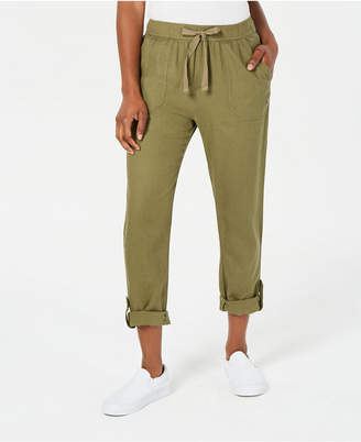 Roxy Juniors' Roll-Tab Drawstring Pants
