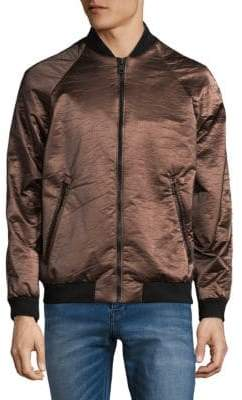 Calvin Klein Full-Zip Metallic Jacket