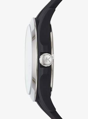 Bradshaw Silver-Tone and Silicone Watch
