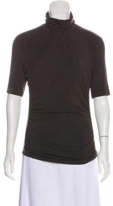 Etro Turtleneck Short Sleeve Top