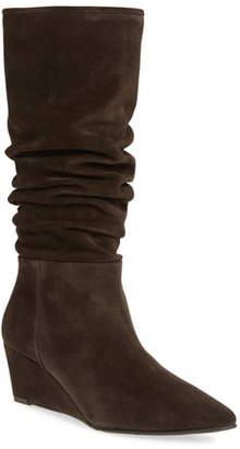 Pedro Garcia Onara Slouchy Pointed Toe Wedge Boot