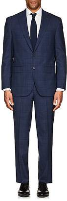 Piattelli MEN'S NAPOLI CHECKED STRETCH-WOOL TWO-BUTTON SUIT