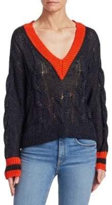 Rag & Bone Emma Cropped Color Block Sweater