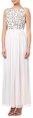 Adrianna Papell Beaded Dress, Ivory/Multi