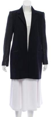 Theory Wool and Leather Short Coat